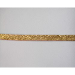 Flanged fabric piping - gold brocade