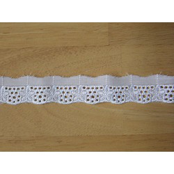 Embroidered tape  trim- edging - white