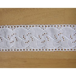Embroidered tape  trim - white
