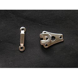 metal hook& bar  - silver