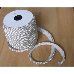 Flanged rope  piping - cream