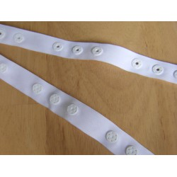 Snap poppers tape - white