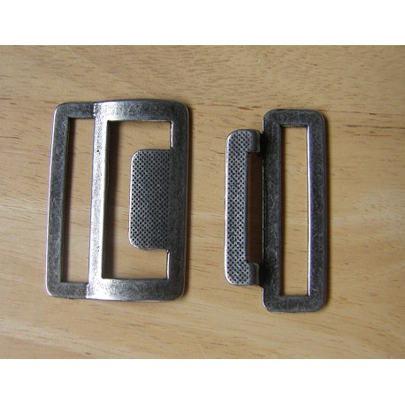metal buckle -  antique silver