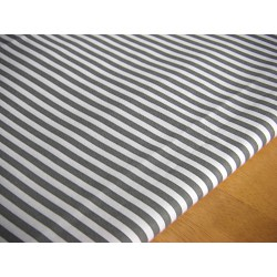 dark grey&white stripes 5mm/5mm