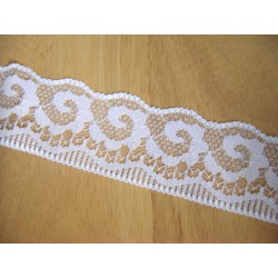 Lace ribbon - white 40mm