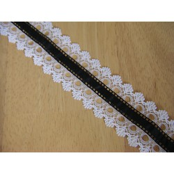 Lace ribbon - black&white