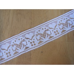 Lace ribbon - white 42mm