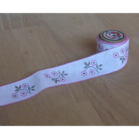 embroidered tape  trim - vintage style