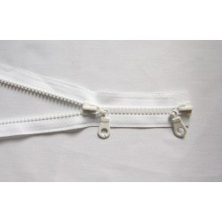 double slider zip - white - chunky - 100cm