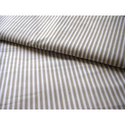 beige&white stripes 5mm/5mm