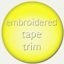 Embroidered tape  trim