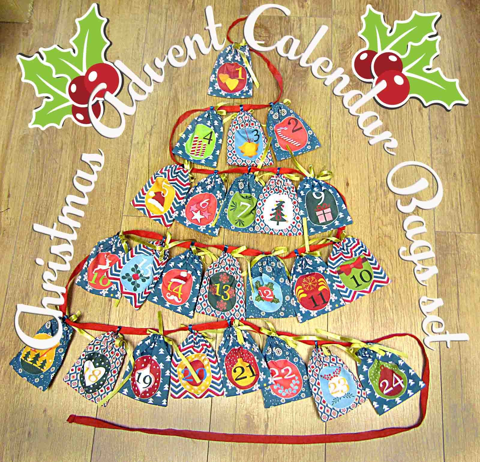 Advent Calendar bags set great idea for Christmas decoration